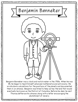 benjamin banneker coloring pages - photo#1