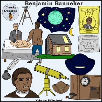 Benjamin Banneker Inventor Clip Art by Dandy Doodles