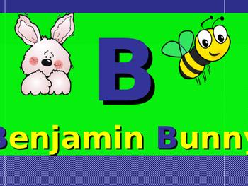 Benjamin Bunny Letter B