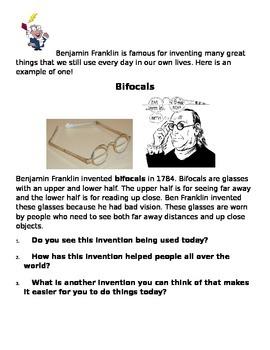 Benjamin Franklin - The Inventor!