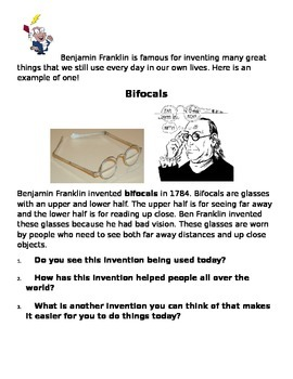 Benjamin Franklin - The Inventor!