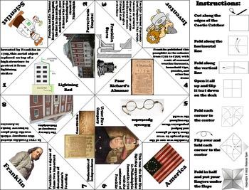 Famous Americans: Ben Franklin Activity/ Foldable