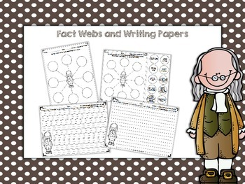 Benjamin Franklin Activity Pack (fact webs/writing papers/timeline activity)