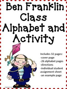 Benjamin Franklin Alphabet and Activity