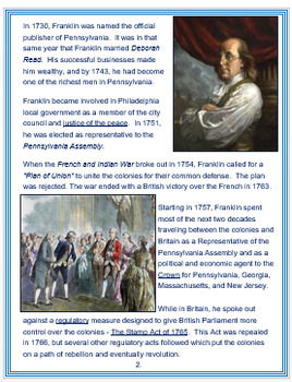 Benjamin Franklin + Assessment