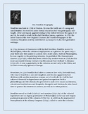 Benjamin Franklin Biography and Comprehension Questions - Founding Father