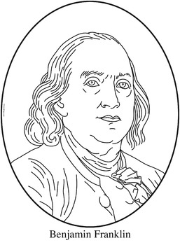 Benjamin Franklin Clip Art Coloring Page Or Mini Poster By Cordial