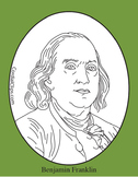 Benjamin Franklin Clip Art, Coloring Page, or Mini-Poster
