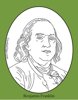 Benjamin Franklin Clip Art, Coloring Page, or Mini-Poster