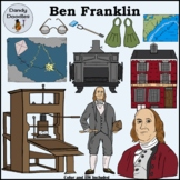 Benjamin Franklin Clip Art by Dandy Doodles