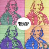 Benjamin Franklin Collaboration Portrait Poster | Famous S
