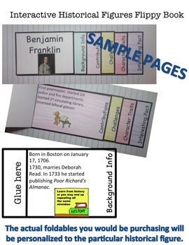 Benjamin Franklin Interactive Historical Figure Foldables