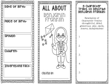 Benjamin Franklin - Inventor Research Project Interactive Notebook, Science