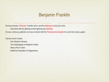 Benjamin Franklin & John Peter Zenger