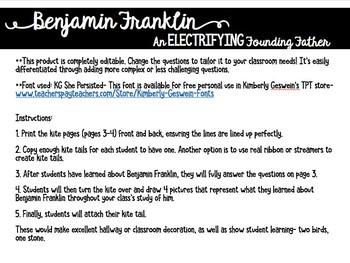 Benjamin Franklin Kite Response Activity