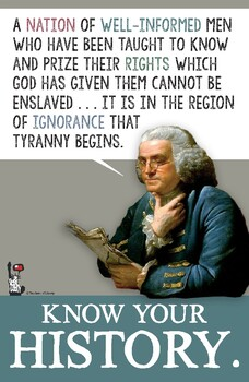 Benjamin Franklin Know Your History Poster