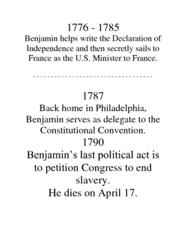 Benjamin Franklin Lapbook and Mini Unit