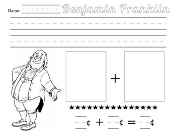 Benjamin Franklin Math Activity - Addition