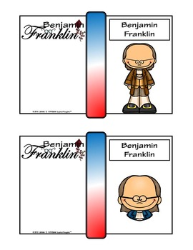Benjamin Franklin Mini Research Fold-Ems, Word Wall, & Writing Templates
