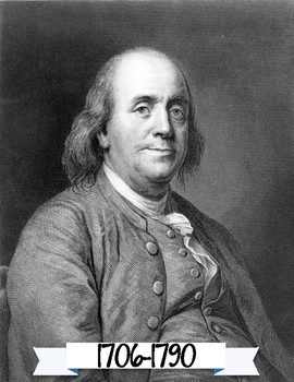 Benjamin Franklin Portrait and Anchor Chart Poster - Famous Americans