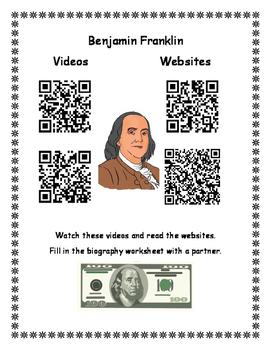 Benjamin Franklin QR Codes