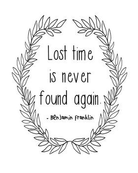 Benjamin Franklin Quote, Library Art
