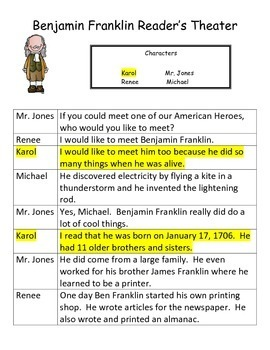 Benjamin Franklin Reader's Theater