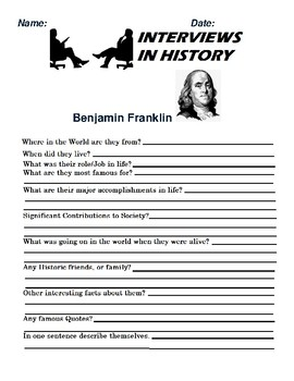Benjamin Franklin Research and interview Assignment