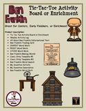 Benjamin Franklin Tic-Tac-Toe Board/Enrichment Menu