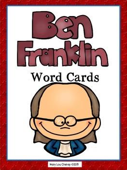 Benjamin Franklin Word Cards