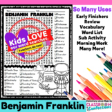 Benjamin Franklin: Word Search Activity