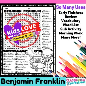 Benjamin Franklin: Word Search Activity
