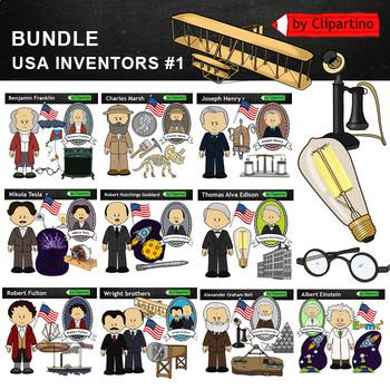 Benjamin Franklin clipart BW - inventors Clip Art