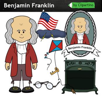 Benjamin Franklin clipart - inventors Clip Art