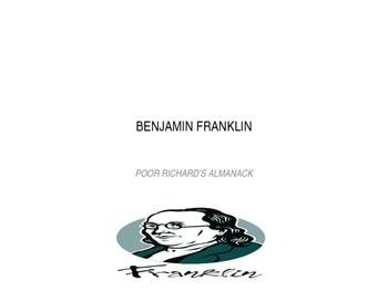Benjamin Franklin's Poor Richard's Almanack Writing Activi