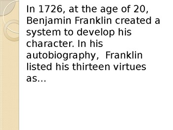 Benjamin Franklin's Virtues PowerPoint