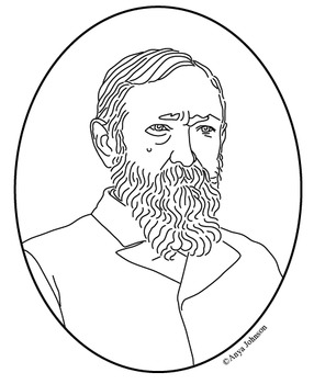 Benjamin Harrison (23rd President) Clip Art, Coloring Page or Mini Poster