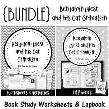 Benjamin West and his Cat Grimalkin. {BUNDLE} Worksheet Set and Lapbook Set
