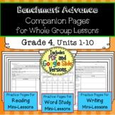Benchmark Advance Companion Pages * Grade 4 BUNDLE-Units 1-10