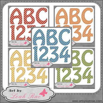 Benny Bear Learns Math Numbers 1 - Art by Leah Rae Alpha & No. Bundle (Set of 5)