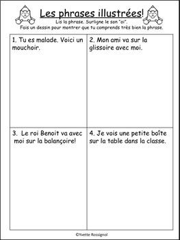 """""""Benoît le roi"""" (comptine et activités de littératie pour le son """"oi"""")"""