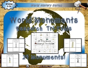 Ben's Dream Book Study and World Monuments Research Tri-Folds Bundle