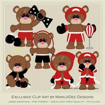 Benson Bear The Boxer Clip Art Graphics