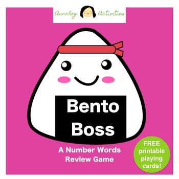 Bento Boss: A Number Words Review Game (FREE Printable Playing Cards!)
