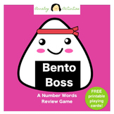 Bento Boss: A Number Words Review Game (FREE Printable Pla