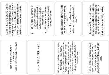 Benzene cue cards