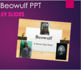 Beowulf - 59 Slides of Photos and Section Summaries PPT and Intro