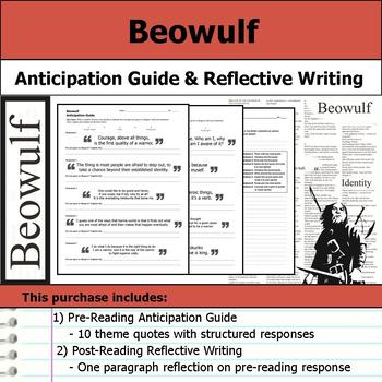 Beowulf - Anticipation Guide & Reflection