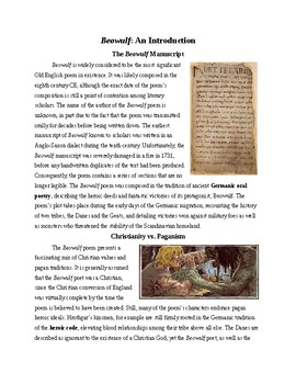 Beowulf Background & Close Reading Practice