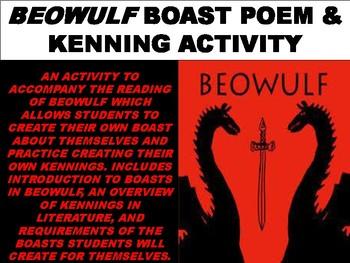 Beowulf Boast Poem Activity